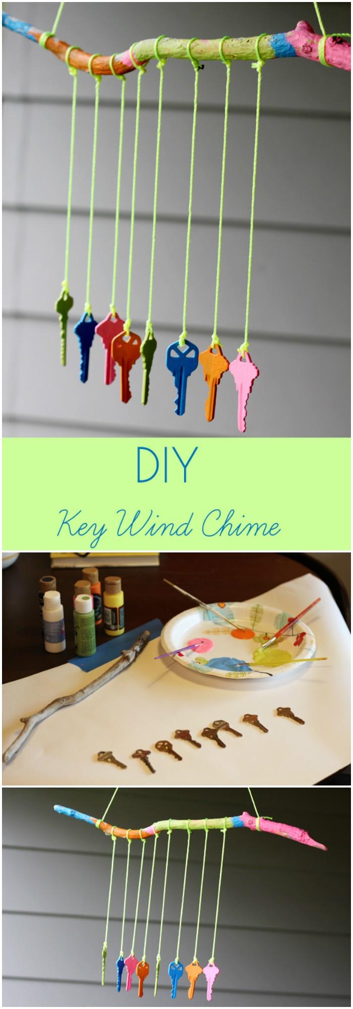 DIY Key Wind Chime - DIY backyard ideas